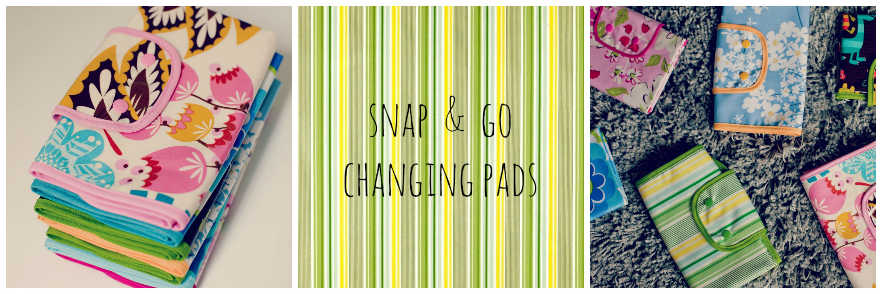 Waterproof laminated cotton and flannel snap and go changing pads